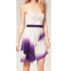 NWT Karen Millen Dip Dye Ombre Silk Dress Size 4